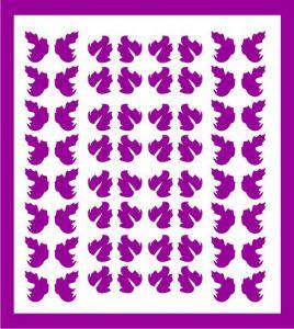 Samolepka pro nail art lístečky 5 fialová tmavá