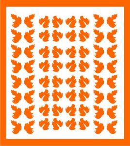 Samolepka pro nail art lístečky 5 oranžová