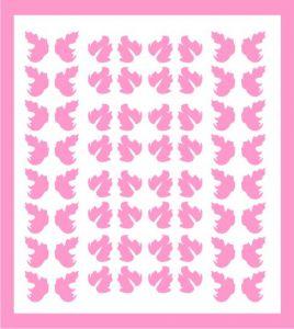 Samolepka pro nail art lístečky 5 růžová světlá
