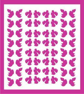 Samolepka pro nail art lístečky 5 růžová tmavá
