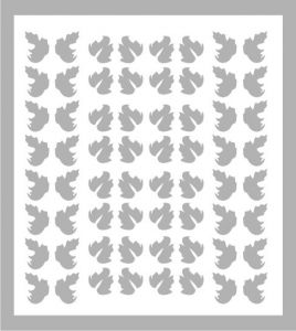 Samolepka pro nail art lístečky 5 stříbrná