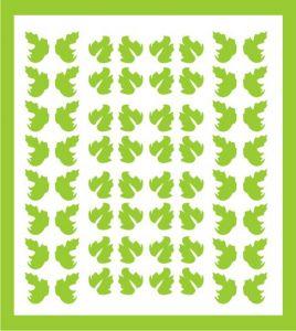 Samolepka pro nail art lístečky 5 zelená světlá