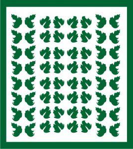 Samolepka pro nail art lístečky 5 zelená tmavá