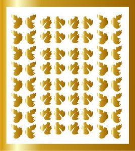 Samolepka pro nail art lístečky 5 zlatá