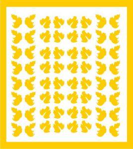 Samolepka pro nail art lístečky 5 žlutá