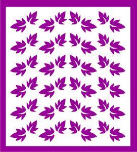 Samolepka pro nail art lístečky 7 fialová tmavá