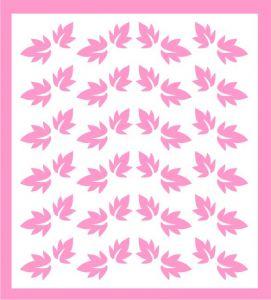 Samolepka pro nail art lístečky 7 růžová světlá