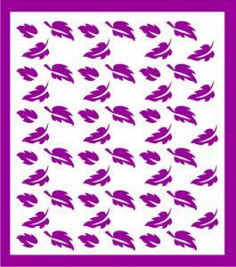Samolepka pro nail art lístečky 8 fialová tmavá