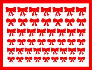 Samolepka pro nail art mašličky 3 červená