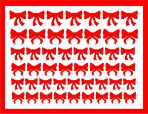 Samolepka pro nail art mašličky 4 červená
