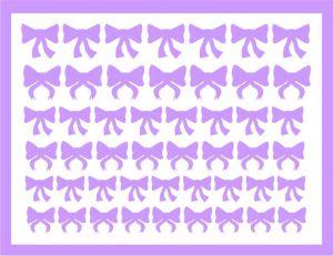 Samolepka pro nail art mašličky 4 fialová světlá