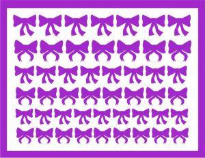 Samolepka pro nail art mašličky 4 fialová tmavá