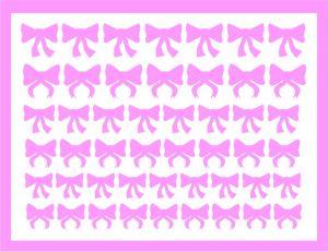 Samolepka pro nail art mašličky 4 růžová světlá