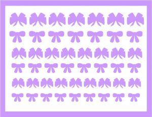 Samolepka pro nail art mašličky 5 fialová světlá