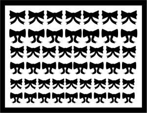 Samolepka pro nail art mašličky 6 černá