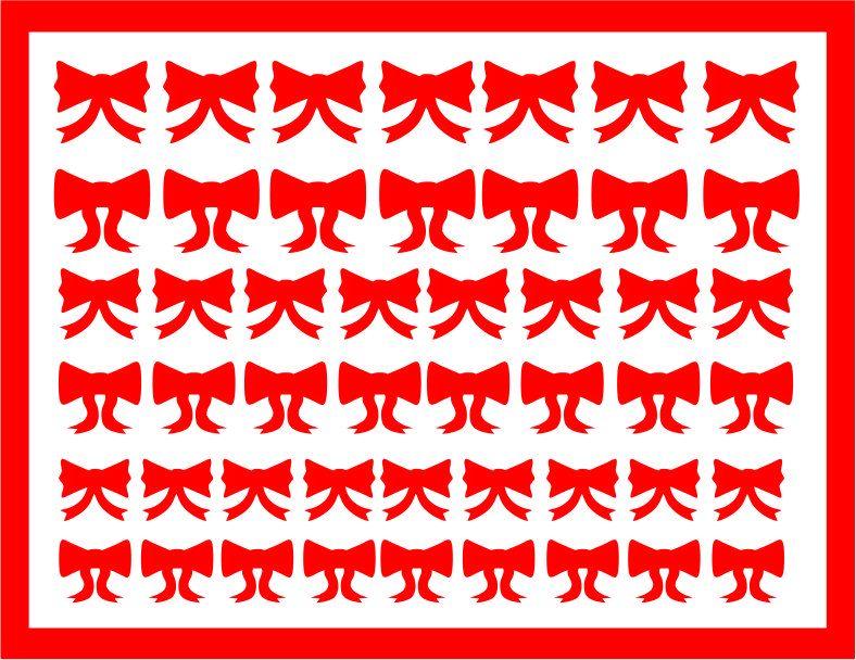 Samolepka pro nail art mašličky 6 červená AKmedia
