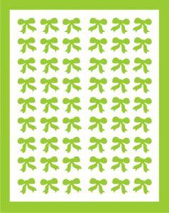 Samolepka pro nail art mašličky zelená světlá