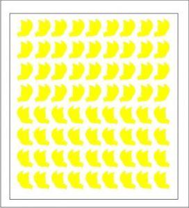 Samolepka pro nail art motýl 1 žlutá