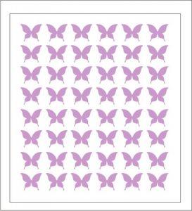 Samolepka pro nail art motýl 2 fialová světlá