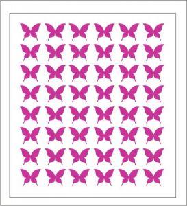 Samolepka pro nail art motýl 2 růžová tmavá