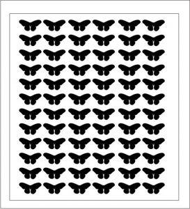 Samolepka pro nail art motýl 3 černá
