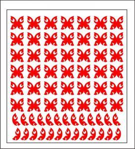 Samolepka pro nail art motýl 4 červená