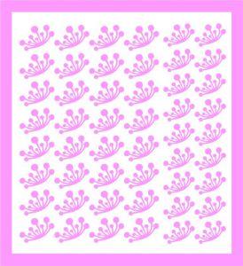 Samolepka pro nail art  pampeliška 2 růžová světlá