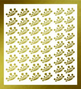 Samolepka pro nail art  pampeliška 2 zlatá
