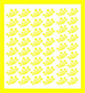Samolepka pro nail art  pampeliška 2 žlutá
