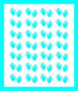 Samolepka pro nail art  ručička 1 modrá světlá
