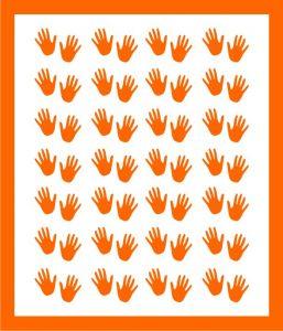 Samolepka pro nail art  ručička 1 oranžová