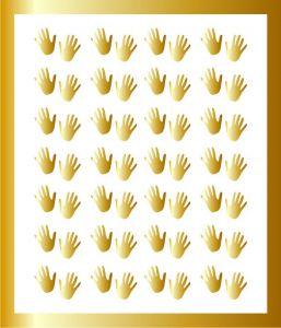 Samolepka pro nail art  ručička 1 zlatá