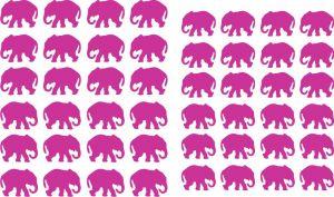 Samolepka pro nail art slon růžová tmavá
