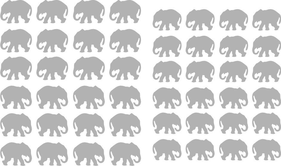 Samolepka pro nail art slon stříbrná AKmedia