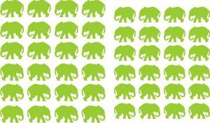 Samolepka pro nail art slon zelená světlá