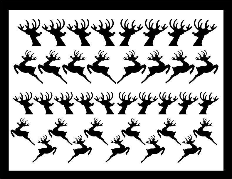 Samolepka pro nail art sobík černá AKmedia