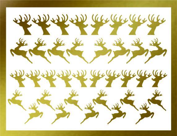 Samolepka pro nail art sobík zlatá AKmedia