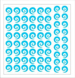 Samolepka pro nail art spirála 2 modrá světlá