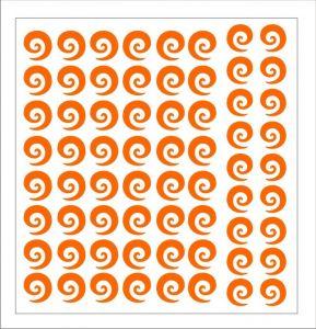 Samolepka pro nail art spirála 2 oranžová
