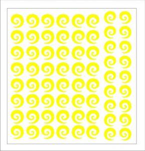 Samolepka pro nail art spirála 2 žlutá