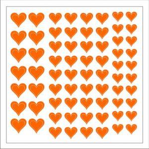 Samolepka pro nail art srdíčka 2 oranžová