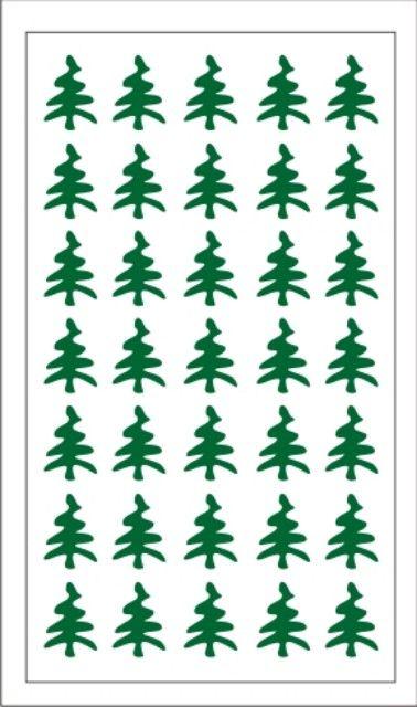 Samolepka pro nail art stromeček zelená tmavá AKmedia