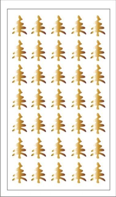 Samolepka pro nail art stromeček zlatá AKmedia