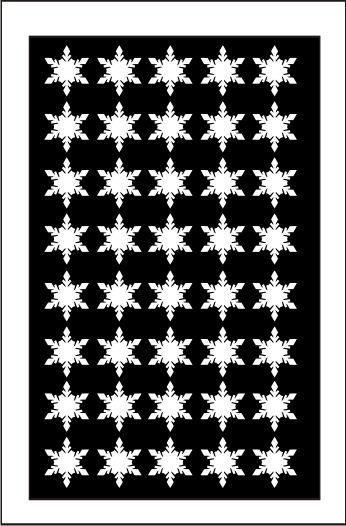 Samolepka pro nail art vločka 1 bílá AKmedia