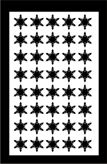 Samolepka pro nail art vločka 1 černá AKmedia