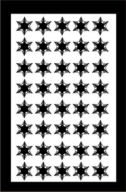 Samolepka pro nail art vločka 2 černá AKmedia