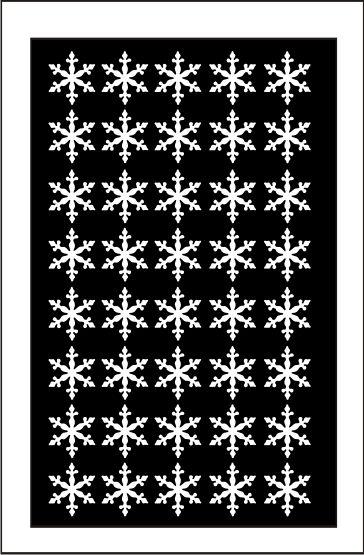 Samolepka pro nail art vločka 3 bílá AKmedia