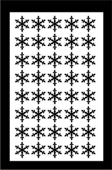 Samolepka pro nail art vločka 3 černá AKmedia
