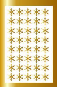 Samolepka pro nail art vločka 3 zlatá AKmedia