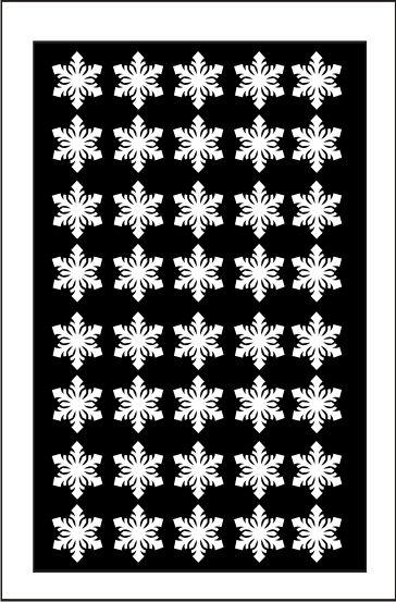Samolepka pro nail art vločka 4 bílá AKmedia